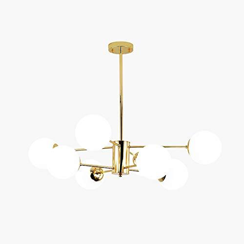 E27 Lámpara De Araña De Bean Mágico,Oro Candelabro Sputnik Moderno Mate Esfera...