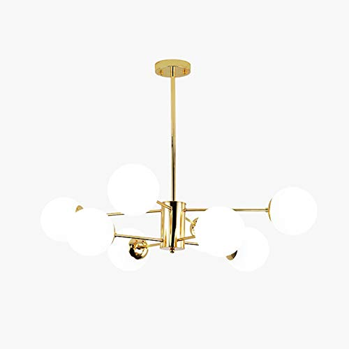 8 Cabezas Oro Sputnik Lámpara Colgante Modernas Mate Esfera De Cristal Lámpara...
