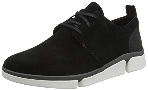 Clarks Herren Tri Verve Boss Sneaker Niedrig, Schwarz (Black Combi), 46 EU