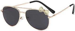 YULE - Niños Gafas de sol de metal marco arco niños gafas de sol moda Gilrs al aire libre gafas de fiesta gafas lindo estilo gafas