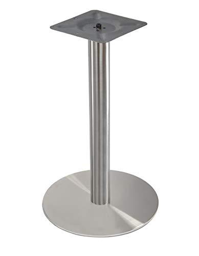 Tischgestell Single aus Edelstahl Runde Bodenplatte Ø 45cm Höhe 71cm