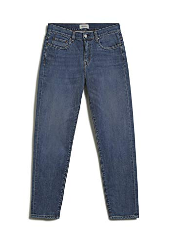 ARMEDANGELS CAJAA - Damen Jeans aus Bio-Baumwoll Mix 26 Dk Aged Denims / 5 Pockets Tapered Relaxed Fit