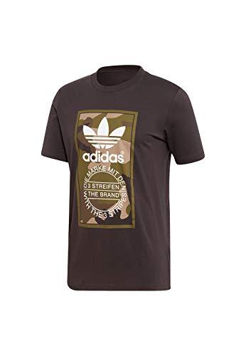 adidas Camo tee Utiblk - Camiseta, Hombre, Negro, S