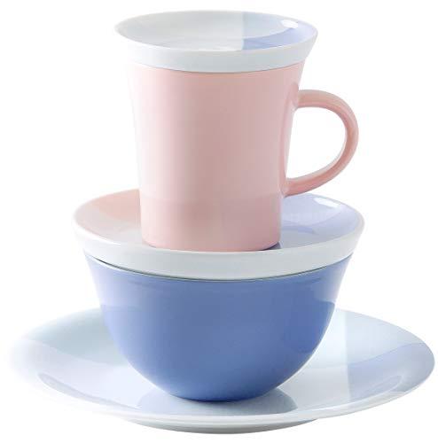 Kahla 320298A50608C Update Survival Kit Silk Geschirrset Porzellan Service 1 Person bunt farbig 5 teilig Single Set Geschirr Frühstück