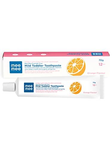 Mee Mee Fluoride-Free Orange Flavor Toothpaste, 70 g