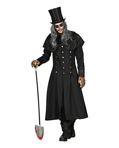Horror-Shop Totengräber Kostüm Mantel mit Kragen für Herren als Verkleidung für Halloween M/L
