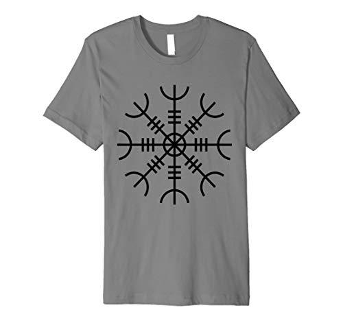 Helm der Ehrfurcht T-Shirt Elhaz Viking Rune nordischen Thor Odin Tee