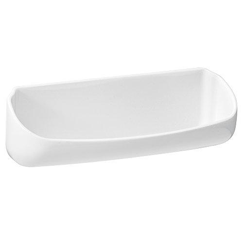 Interdesign 13330EU Affixx Brillen-Ablage für den Waschtisch, weiß
