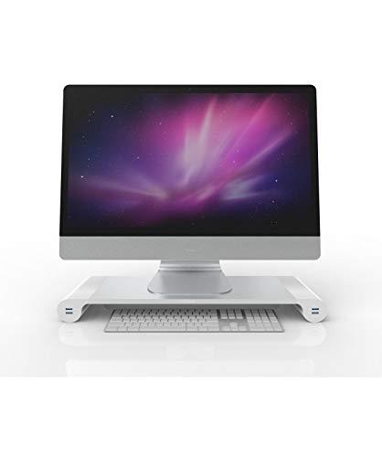 MEDIATEC Space Bar Supporto Monitor Laptop Desktop Organizer 4 Porte USB SB-01
