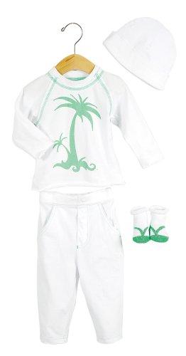 Elegant Baby Tropical Fashion Set- 6 mos- Palm Tree