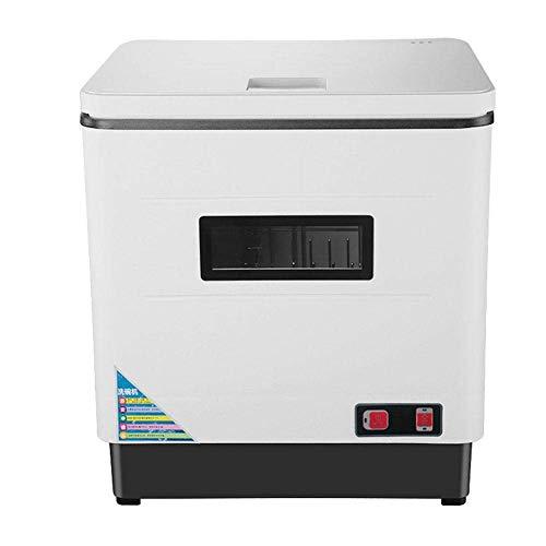 Mini Lavavajilla Compacto de Encimera 6 Cubiertos UV + Alta temperatura + Temperatura Media Secado Sistema de un Solo Botón unos 45 Minutos 2000W