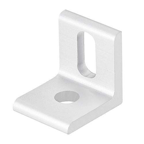 uxcell Inside Corner Brace Angle Bracket Fastener L Shape 20mmx20mmx18mm for 2020 Series Aluminum Extrusion Profile