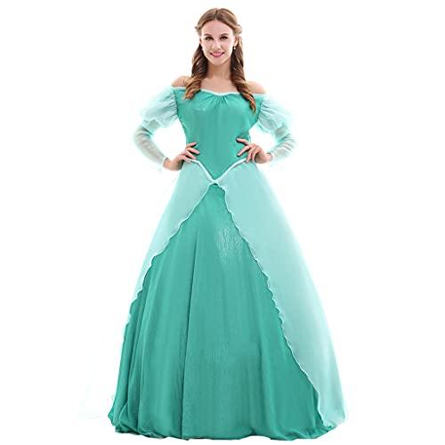 Fortunehouse Disfraz de sirena Ariel para cosplay de princesa para mujer, disfraz de Halloween