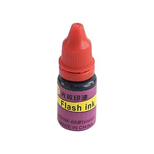 PHILSP 10Milliliter Flash Refill Ink für lichtempfindliche Siegelstempel Ölstempelmaschine DIY Bürobedarf Lila