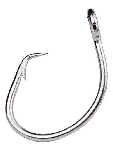 Facikono Saltwater Tuna Circle Hook, 12/0 Wide Gap Perfect in-line Big Game Sword Catfish Lingcod Fishing Hooks