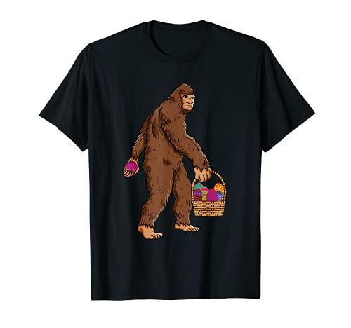 Disfraz de Pascua Bigfoot Sasquatch Huevo Basket Nios Camiseta