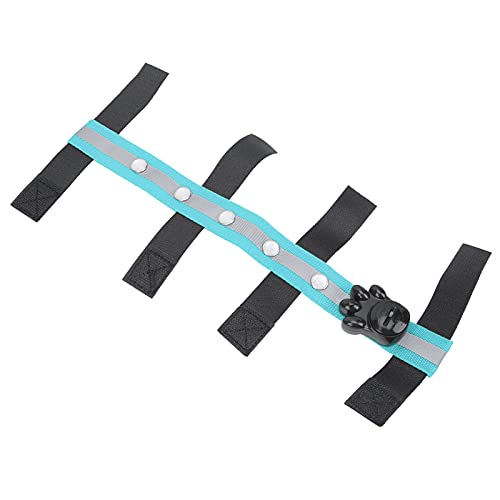 Correa de luz para exteriores, correa de LED Ecuestre Diseño de gancho y lazo para cinturón LED para exterior para ecuestre(blue)