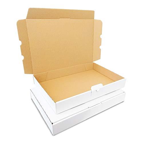 Verpacking 10 Maxibriefkartons 350x250x50mm DIN A4 Weiss MB-5 Maxibrief für Warensendung DHL DPD GLS Hermes, Päckchen, Versandkarton, Büchersendung