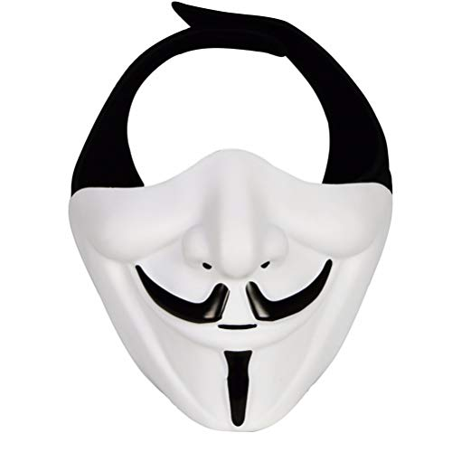 KKPLZZ Máscara samurái Demon Airsoft Mask Half Face Hannya Kabuki Mask Monster Face Evil Prop Máscara para Baile de máscaras/Fiesta/Halloween/CS War Game/BB Gun
