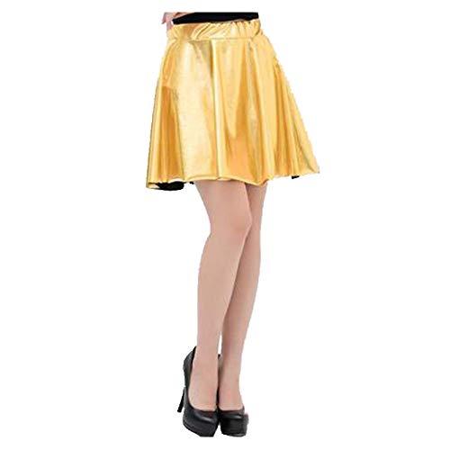 Falda corta. amarillo M