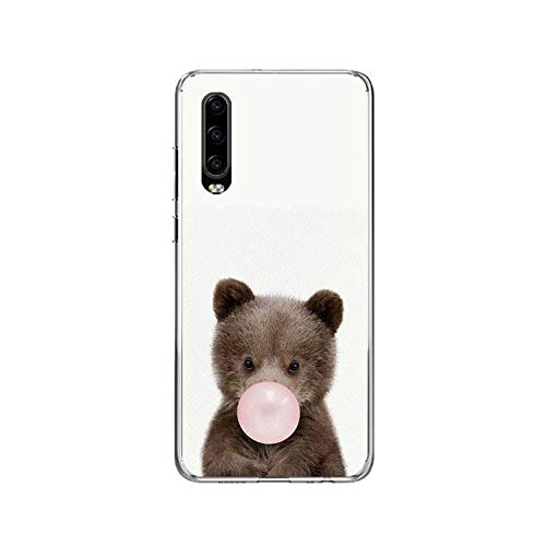Animal Coque For Honor 8X 10 20 Lite Case For Huawei Mate 10 Pro 20 lite Cover Y5 Y6 Y7 Y9 For P Smart Z Shell-C024 (10)-Y6 2019