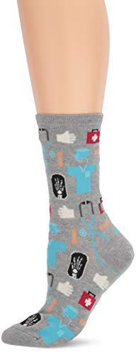 Hot Sox womens Novelty Occupation Crew Casual Sock, Medical (Gents Heather), 9 11 US