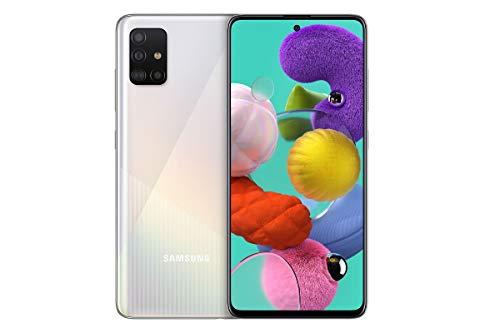 Samsung Galaxy A51 (16.4cm (6.5 Zoll) 128 GB interner Speicher, 4 GB RAM, Dual SIM, Android, prism crush white) Deutsche Version