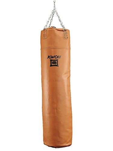 KWON Boxsack Leder, 150 cm, ungefüllt in braun
