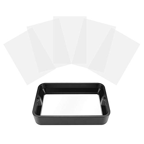 3D Printer Accessories 5.5inch Material Rack for Light Curing Printer Resin Container FEP Film and Screws Installed with 5pcs FEP Film Sheet 140 * 200mm Transparent Release Film for WanHAO D7 for