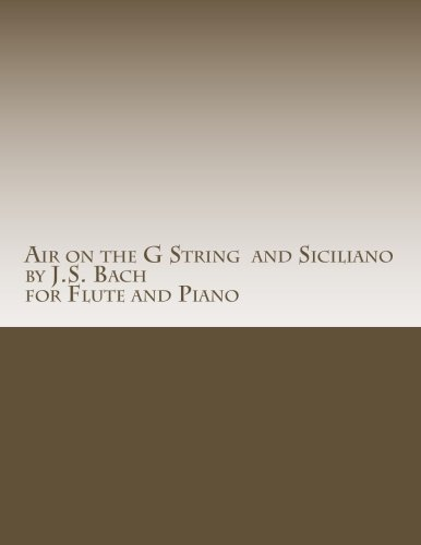 Air on the G String by J.S. Bach and Siciliano by J.S. Bach for Flute and Piano
