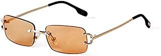 DEYONGDPTYJ Goodr Sunglasses, Rimless Rectangle Sunglasses Metal Fashion Square Sunglasses Ladies Gradient Lens Rimless (C...