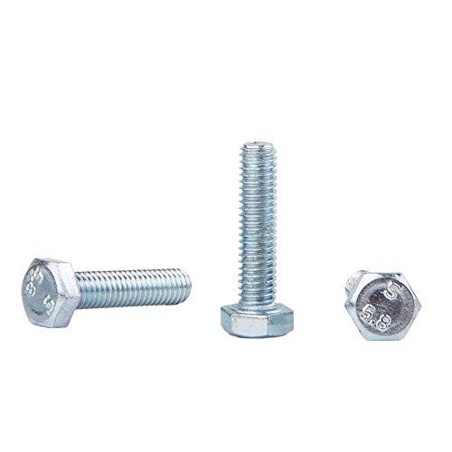 Juego de 30 tornillos hexagonales DIN 933 de acero galvanizado M6 x 30 mm, tornillos hexagonales, totalmente roscados, cabeza hexagonal (30, M6 x 30 mm)
