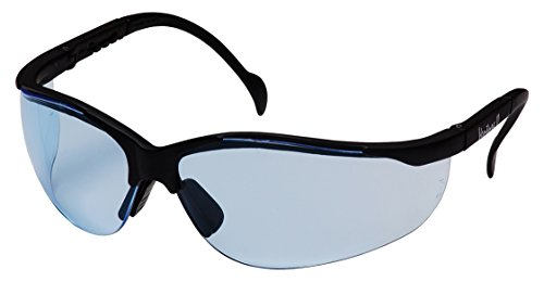 Pyramex Venture Ii Safety Eyewear, Infinity Blue Lens With Black Frame