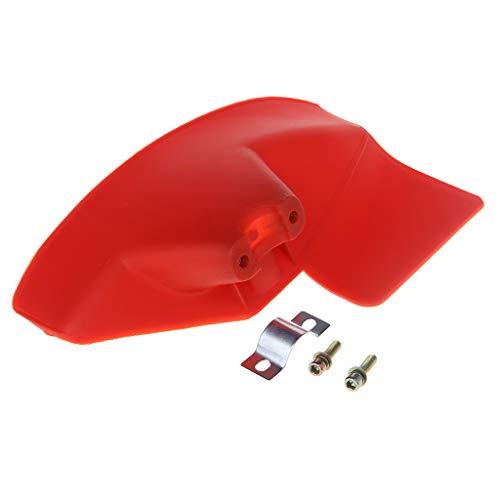 JOYKK Coupe-Herbe de Jardin Coupe-Herbe Coupe-Herbe Déflecteur pour 24/26 / 28mm Dia. Arbre - Rouge