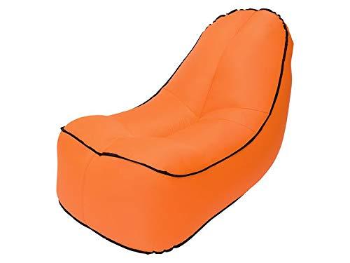 Crivit Airlounge - Sofá hinchable impermeable y resistente a los desgarros para playa, camping, playa y festivales (naranja)
