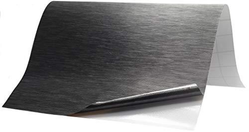 6,5€/m² Folie Edelstahl gebürstet - TITAN - 200 x 152 cm blasenfrei selbstklebend flexibel Dekor Folie Auto Küche Klebefolie Schutzfolie