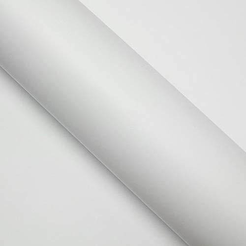 DIMEXACT Covering Voiture Blanc Mat 2D, de Largeur : 1.52 m x Longueur : 0.5 m, en Rouleau