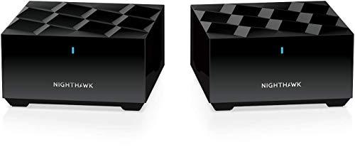 NETGEAR メッシュWiFi無線LANルーター 2台セット Wi-Fi6(11AX) 速度AX1800 Nighthawk MK62 (ルータ―+サテライト) 200㎡ MK62-100JPS