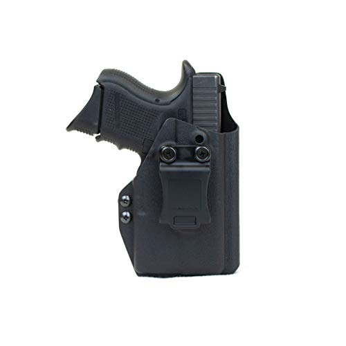 Priority 1 Holsters Inside The Waistband Holster for Glock 26/27/33 with Streamlight TLR-6 (TLR6) Right Handed Black