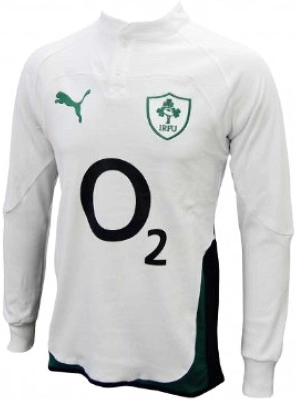 Puma Ireland Away Cotton Long Sleeve Rugby Shirt 09 10