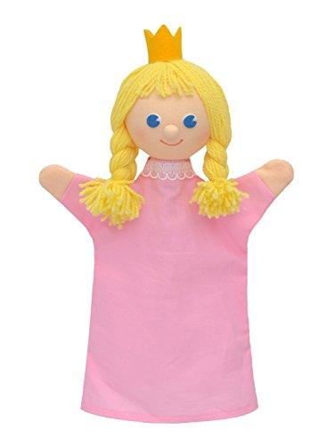 MUBRNO 22862A Prinzessin Textilhandpuppe, Mehrfarbig
