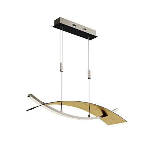 LED Lámpara colgante 'Marija' (Moderno) en Negro hecho de Metal e.o. para Salón & Comedor (A) de Lucande | lámpara colgante LED, lámpara colgante LED, lámpara LED, lámpara de techo, lámpara de techo