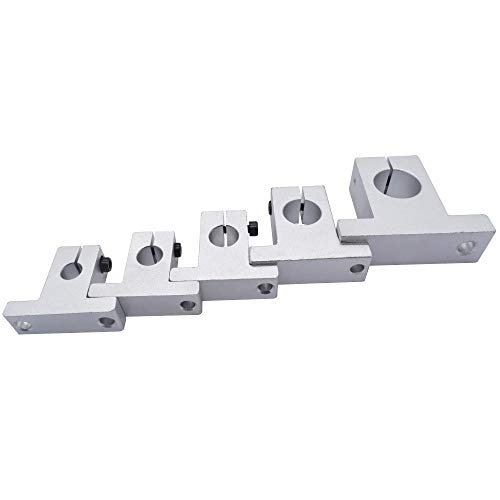without 10pcs Linear Bearing Rail Shaft Support SK8 SK10 SK12 SK16 SK20 Aluminum Block For XYZ Table CNC Router SH8A SH10A SH12A SH16A (Size : SK8)