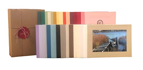 The Sampler 4x6 Photo Insert Note Cards - 30 Cards in 30 Different Colors by Plymouth Cards