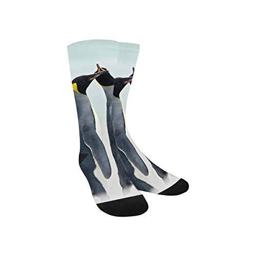 InterestPrint Funny Penguins High Tube Elastic Fabric Socks for Kids