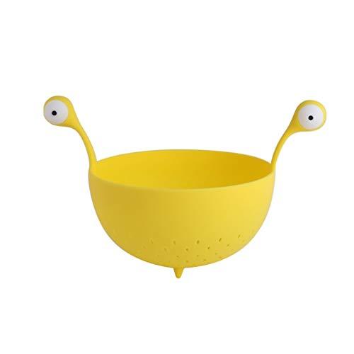 Fruitschaal, Fruitschaal Creatieve Woonkamer Snack Opbergmand Home Keuken Groente- En Fruitmand (Color : Yellow)