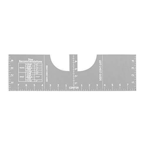 Adaskala Regla de alineación de Camisetas Regla de artesanía Herramienta de medición de Camisetas acrílicas Escala Blanca Transparente para Hacer un diseño de Centro de Moda
