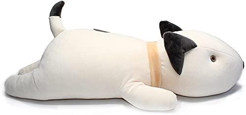 Archile Bull Terrier Dog Big Abrazado Almohada Suave Peluche Juguete Peluche Blanco 21