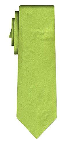 Cravate soie unie solid apple green
