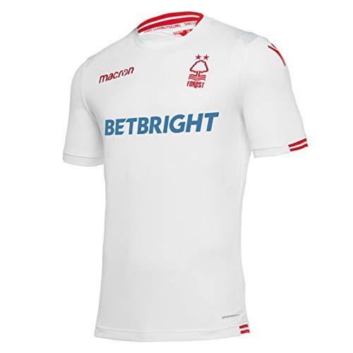 Nottingham Forest FC Official Football Gift Mens Away Kit Shirt White 3XL